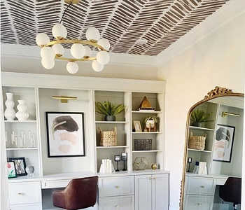Ceiling wallpaper is th…
