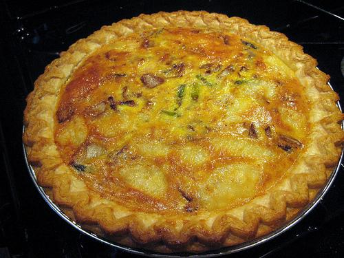 Simple Asparagus Sausage Quiche