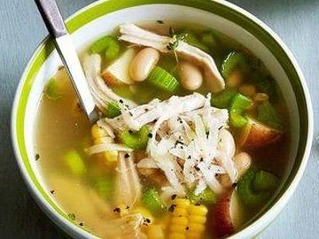Lemony Turkey-Corn Soup