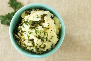 Olive Oil Garlic Mashed Potatoes