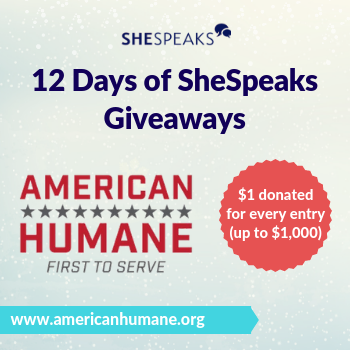 Announcing our 2018 #12DaysofSheSpeaks Member Charity Choice: American Humane