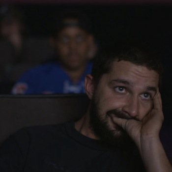 Watch Shia LaBeouf Watch Himself In His Latest Unusual Project