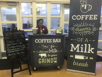Want Kids to Drink More Milk? The Dairy Industry Donates Coffee Bars to School Cafeterias