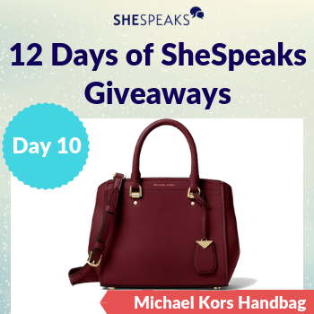 12 Days of SheSpeaks, Day 10: <br />Win a Michael Kors Handbag!