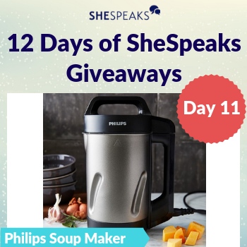 12 Days of SheSpeaks, Day 11: Win a Philips Viva Collection Soup Maker!