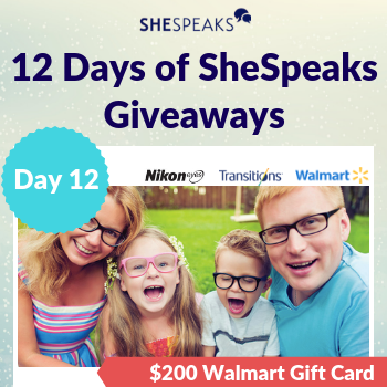 12 Days of SheSpeaks, Day 12: Win a $200 Walmart Gift Card!