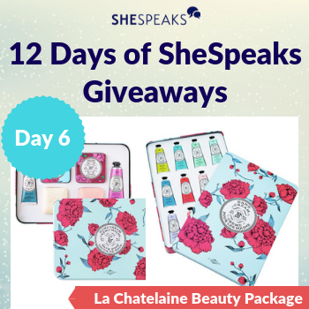 12 Days of SheSpeaks, Day 6: Win a La Chatelaine Beauty Package, valued over $175!