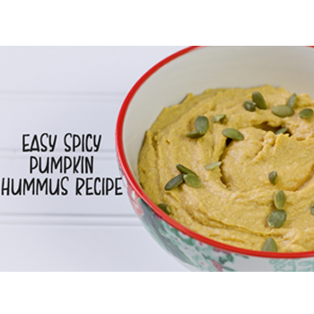 Easy Spicy Pumpkin Hummus Recipe & #FreshWorksFreshness Giveaway!