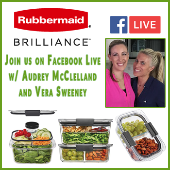 Join us for @Rubbermaid's #BrilliantLunch Facebook Live on 10/18 With Audrey & Vera!