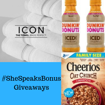 Enter our #SheSpeaksBonus Gi…