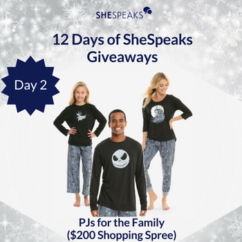 12 Days of SheSpeaks Day 2: Win Your Choice of PJs for the Family ($200 Shopping Spree)! #thankFULL