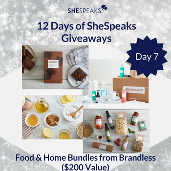 12 Days of SheSpeaks Day 7: Win Food & Home Bundles from Brandless! #thankFULL