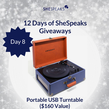 12 Days of SheSpeaks Day 8: Win a Portable USB Turntable! #thankFULL