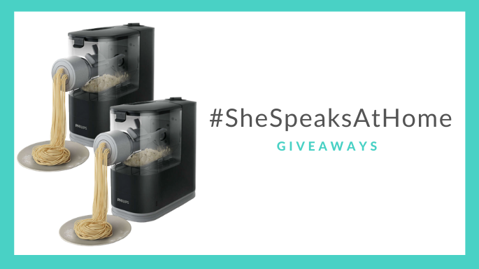 #SheSpeaksAtHome: Win 2 Philips Pasta Makers, 1 for you & 1 for a friend ($300 total value!)