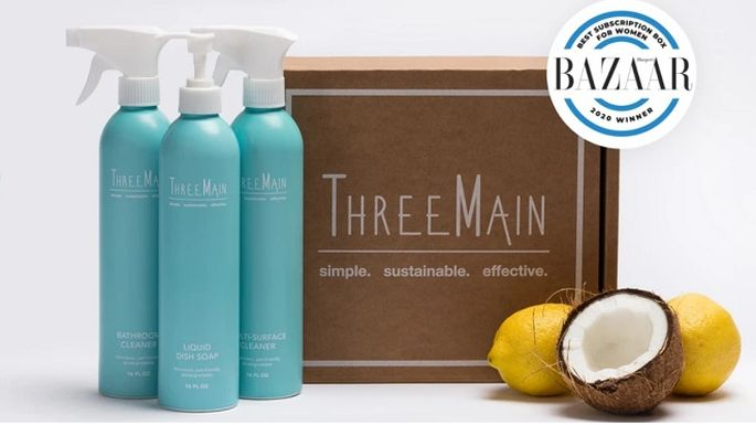 Enter the ThreeMain Giveaway: Win a Clean Green Starter Kit + Refill Subscription