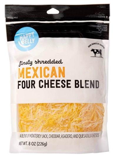 Happy Belly  Shredded Mexican Four Cheese Blend