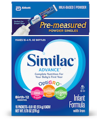 Similac Advance Infant Formula Pre-Measured Powder Singles