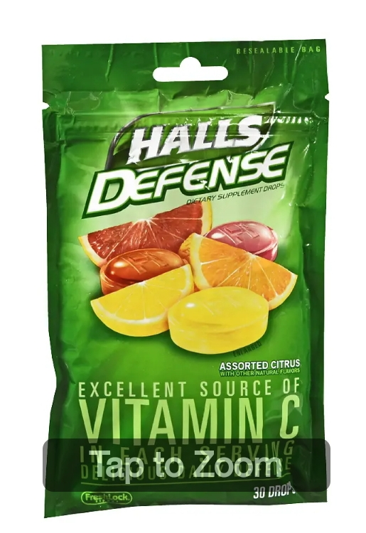Halls Defense Vitamin C …