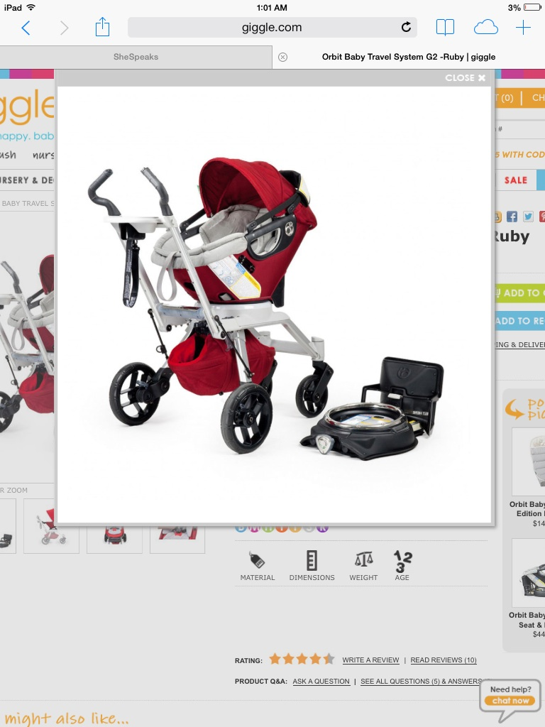 Orbit baby g2 travel sy…